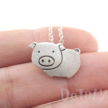 Animal Themed Piglet Piggy Pig Shaped Pendant Necklace
