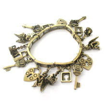 Angels Skeleton Key and Lock Shaped Charm Bracelet