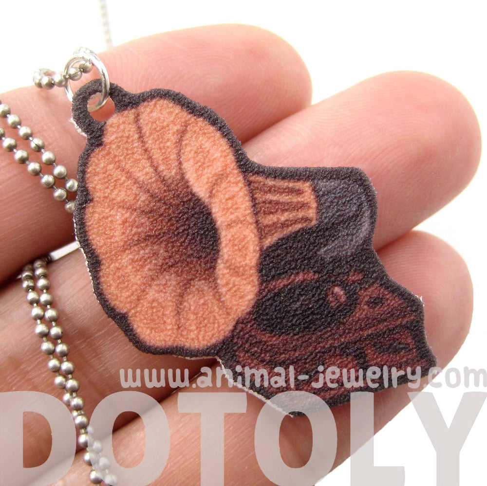 Antique Phonograph Gramophone Themed Pendant Necklace | Handmade