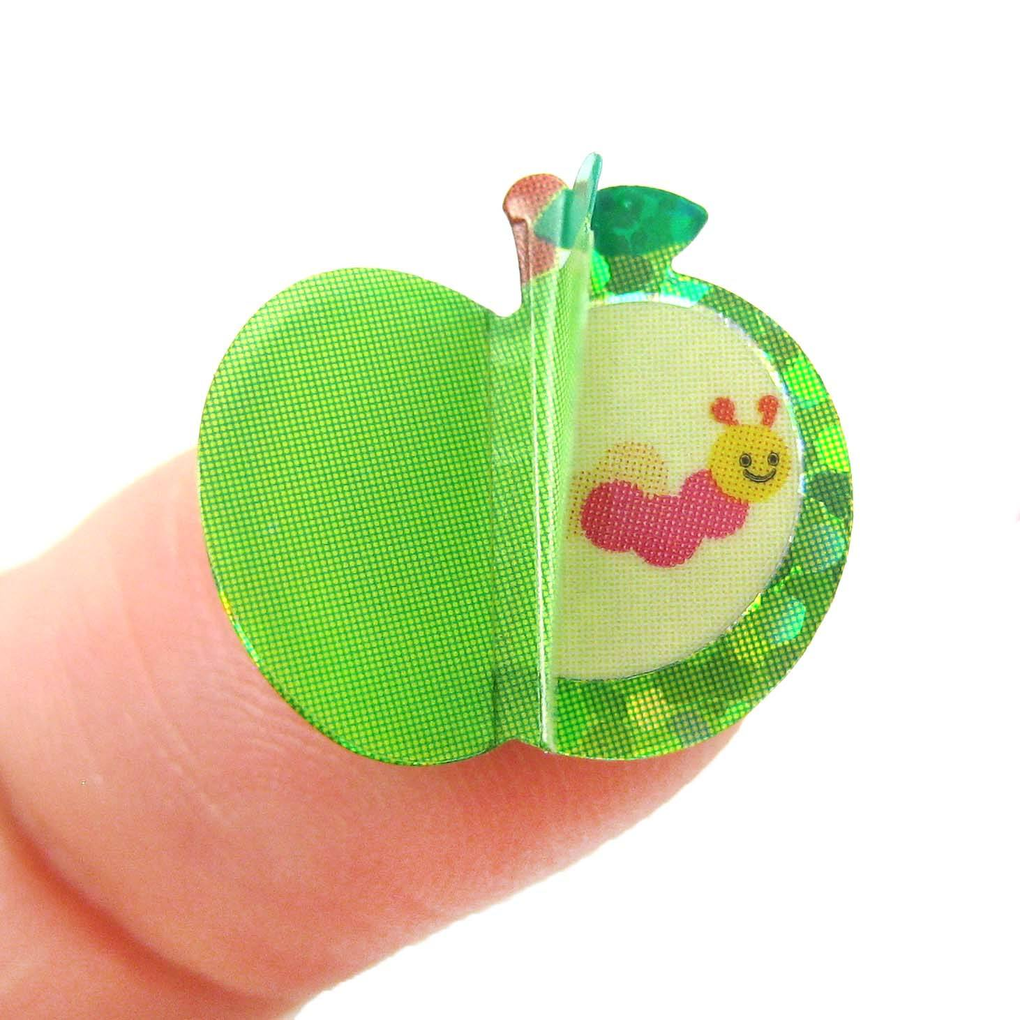 apple-and-caterpillar-shaped-3d-pop-up-stickers-for-scrapbooking-and-decorating
