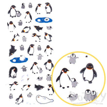 Arctic Animals Penguins and Harp Seals Shaped Stickers