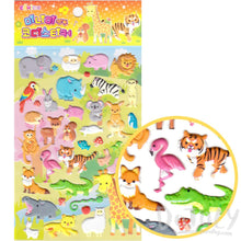 Assorted Animal Stickers Monkey Tiger Kangaroo Shaped Puffy Stickers