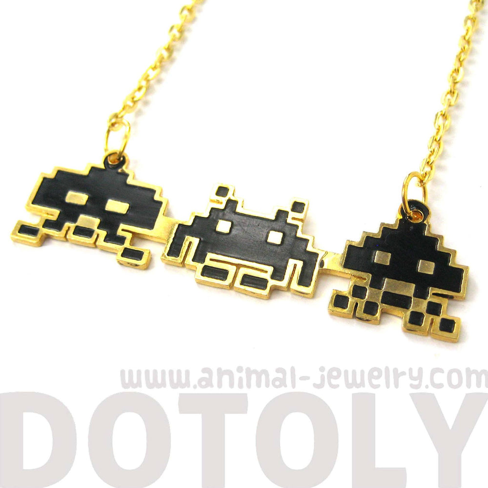 atari-space-invaders-themed-pixel-alien-pendant-necklace-limited-edition