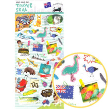 Australia Themed Kangaroo Wombat Shaped Travel Stickers