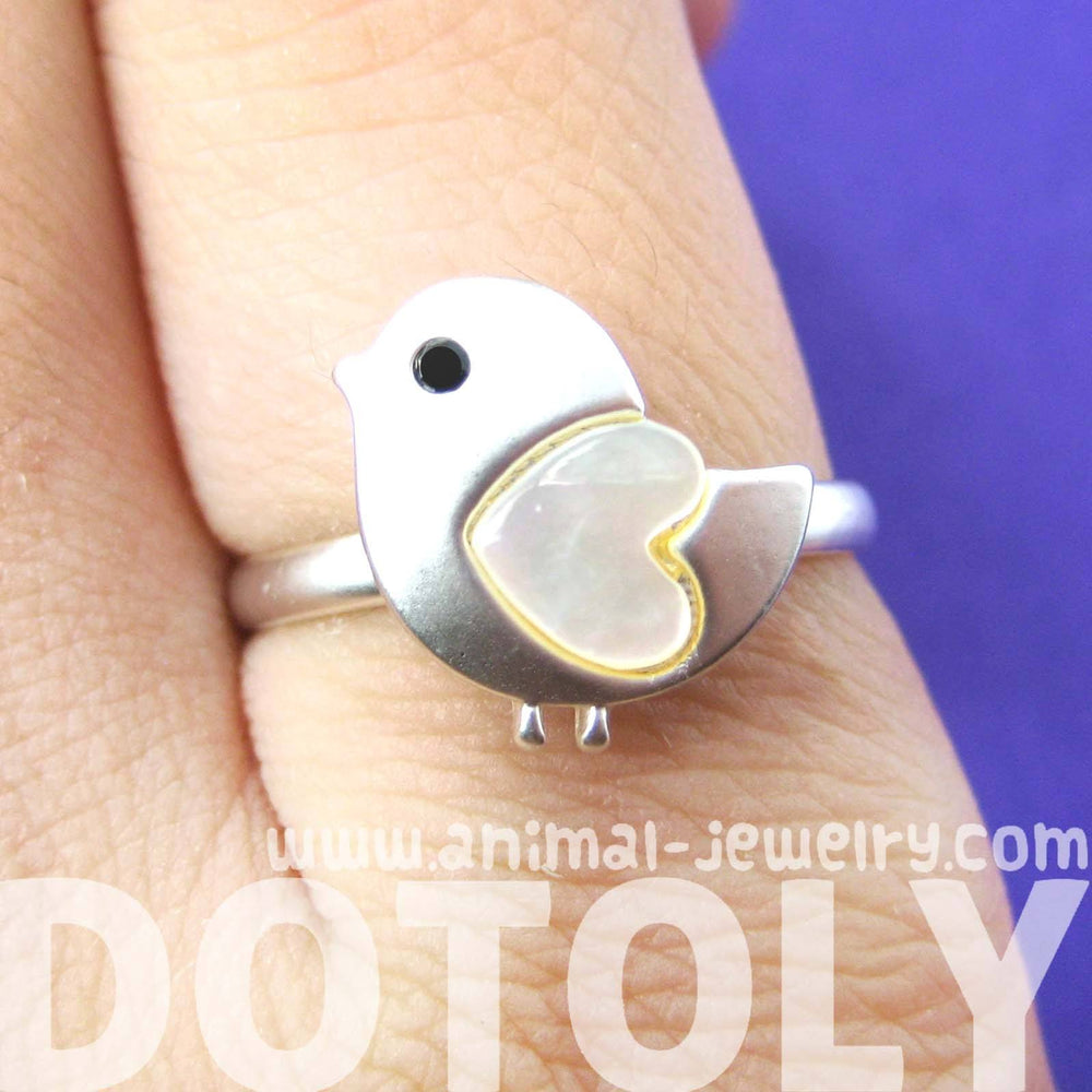 baby-chicken-bird-animal-adjustable-ring-in-silver-with-heart-shaped-wings