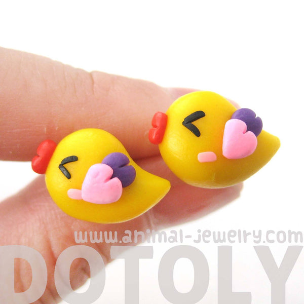 Baby Chicken Bird Shaped Animal Themed Polymer Clay Stud Earrings | DOTOLY | DOTOLY