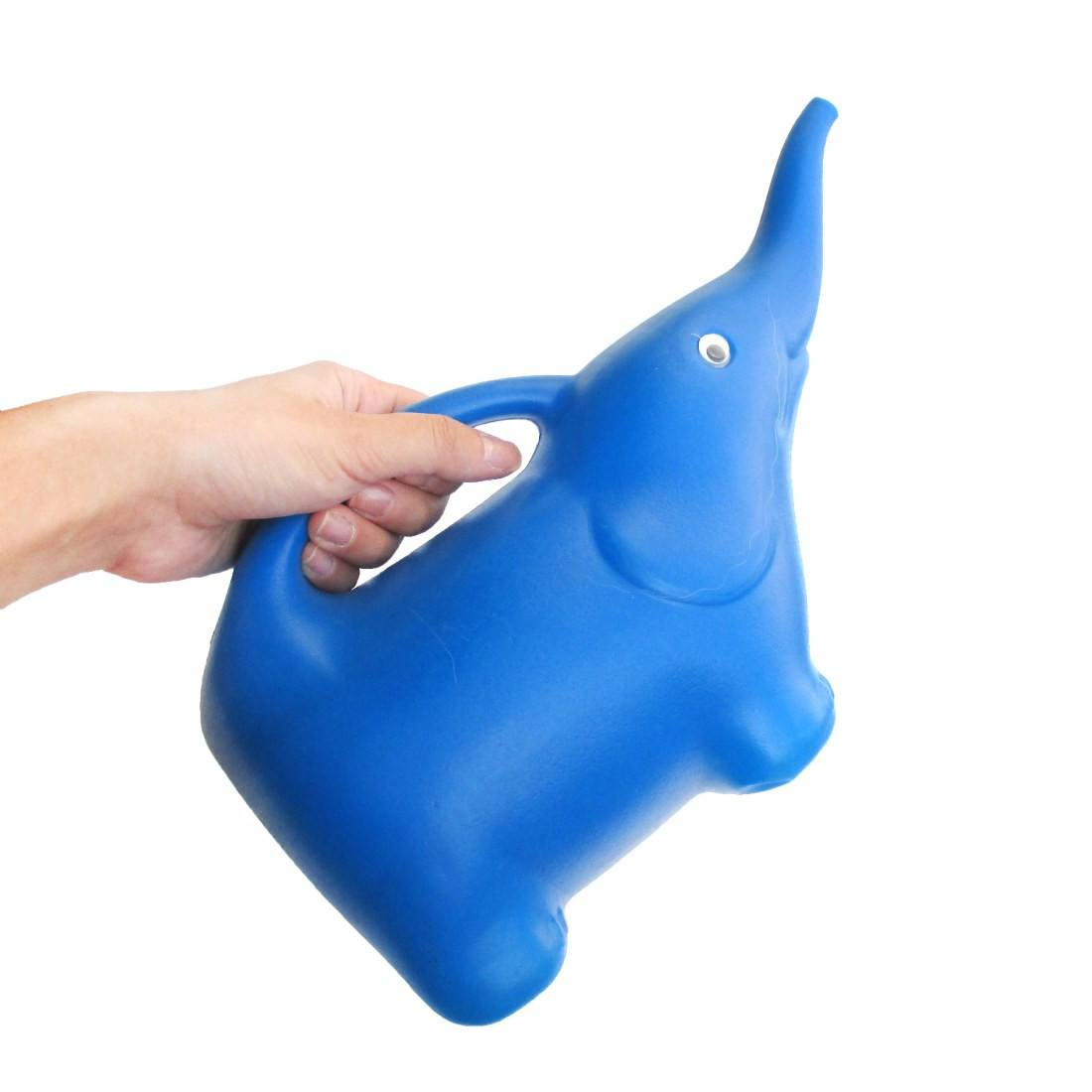 Baby Elephant Shaped Animal Themed Watering Can for Gardening in Blue