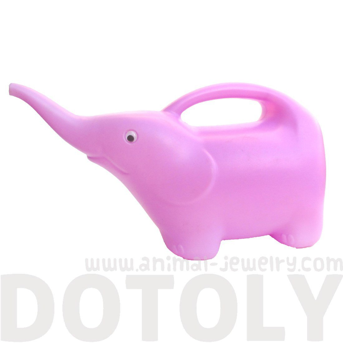 Baby Elephant Shaped Animal Themed Garden Watering Can in Pale Pink