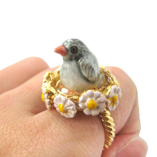 Penguin Shaped Ceramic Porcelain Handmade Limited Edition Animal Ring