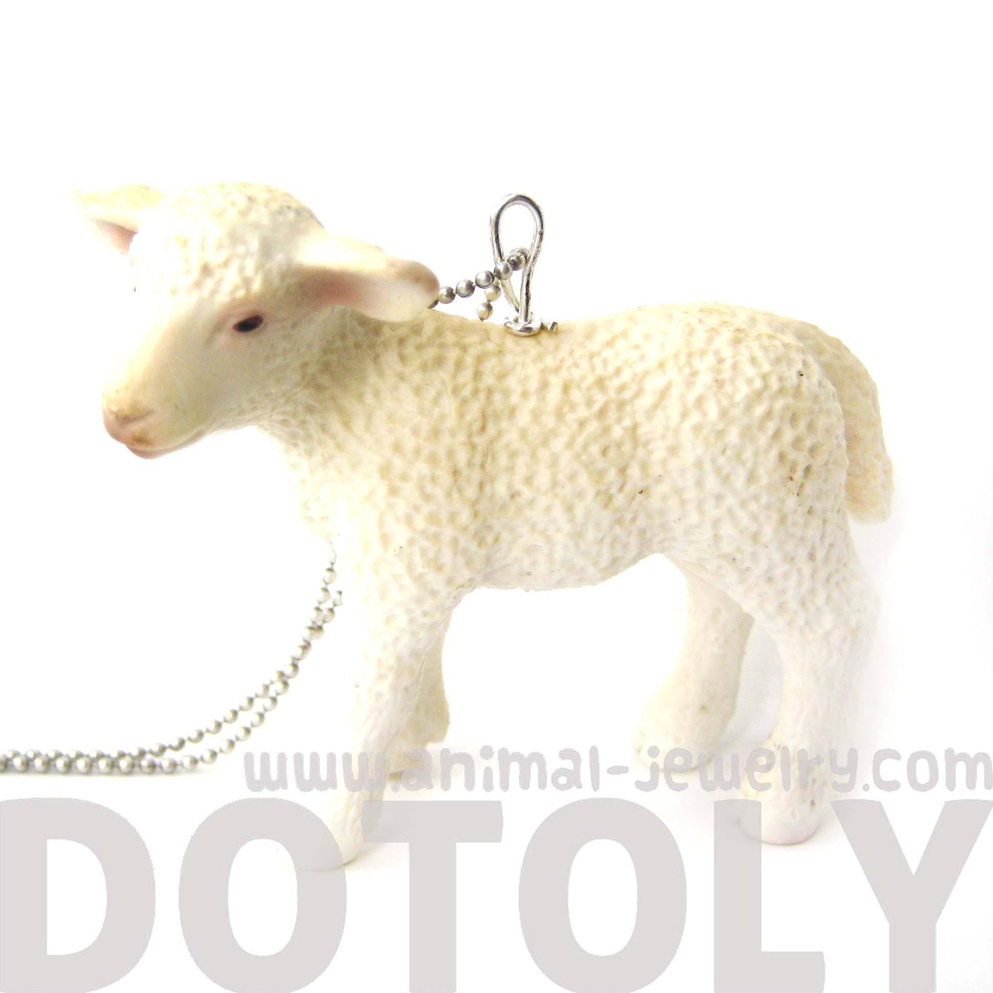 baby-sheep-lamb-animal-plastic-pendant-necklace-animal-jewelry