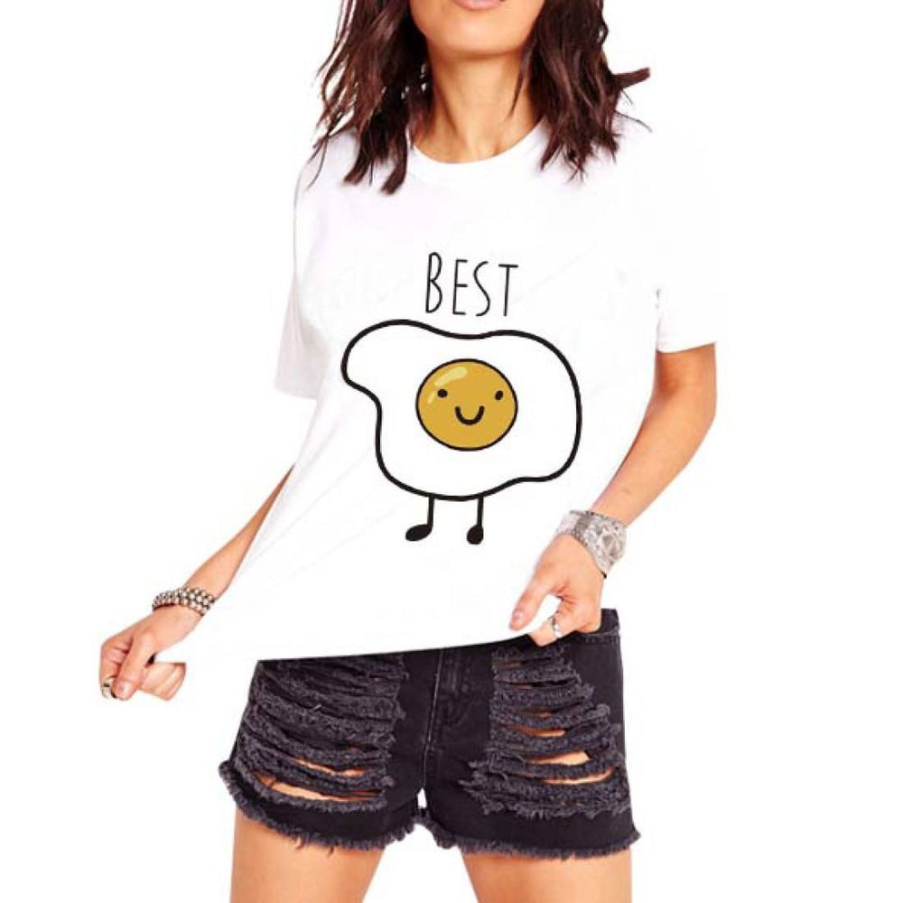 Bacon and Eggs Best Friends T-Shirt Graphic Print Tees | 2 Piece Set | DOTOLY