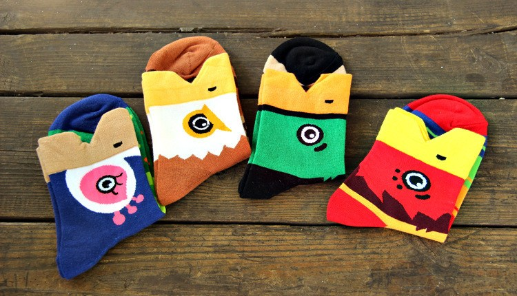 bald-eagle-hawk-bird-shaped-animal-short-cotton-socks-for-women