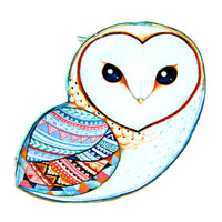 barn-owl-bird-shaped-vinyl-animal-themed-clutch-bag-with-geometric-print-dotoly
