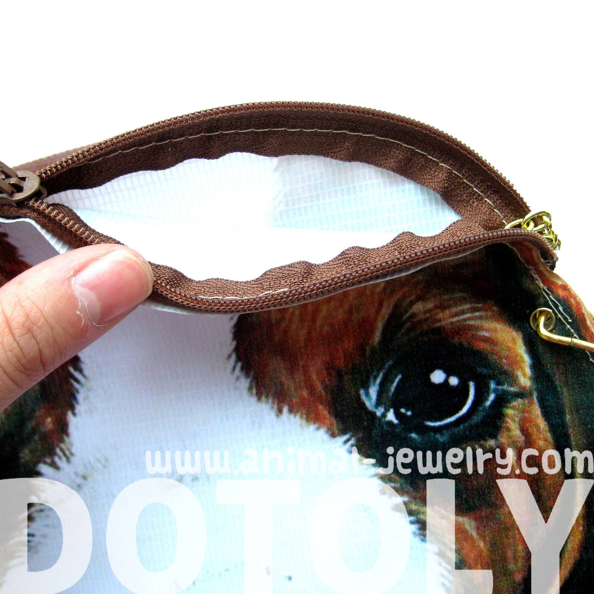 Beagle Puppy Dog Head Shaped Vinyl Animal Themed Cross Shoulder Bag