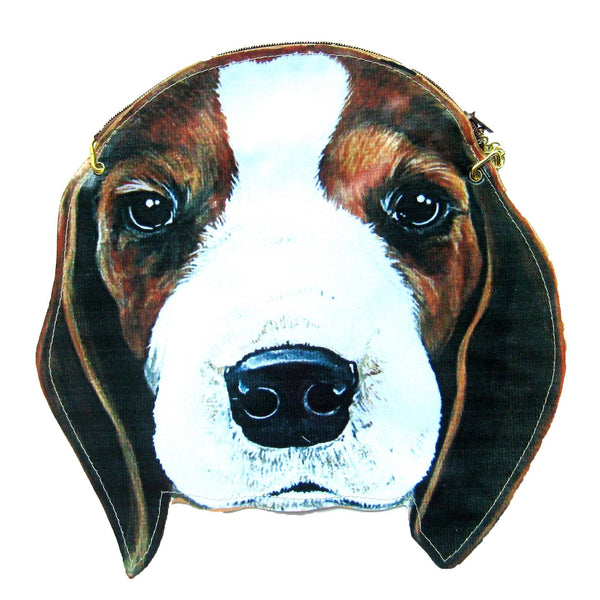 Beagle Puppy Dog Head Shaped Vinyl Animal Themed Cross Shoulder Bag | DOTOLY