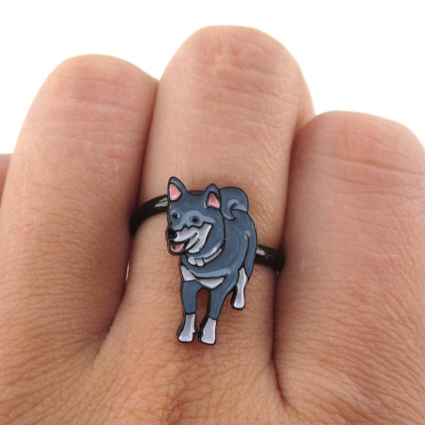 Belgain Malinois Shaped Dog Inspired Adjustable Ring | Animal Jewelry