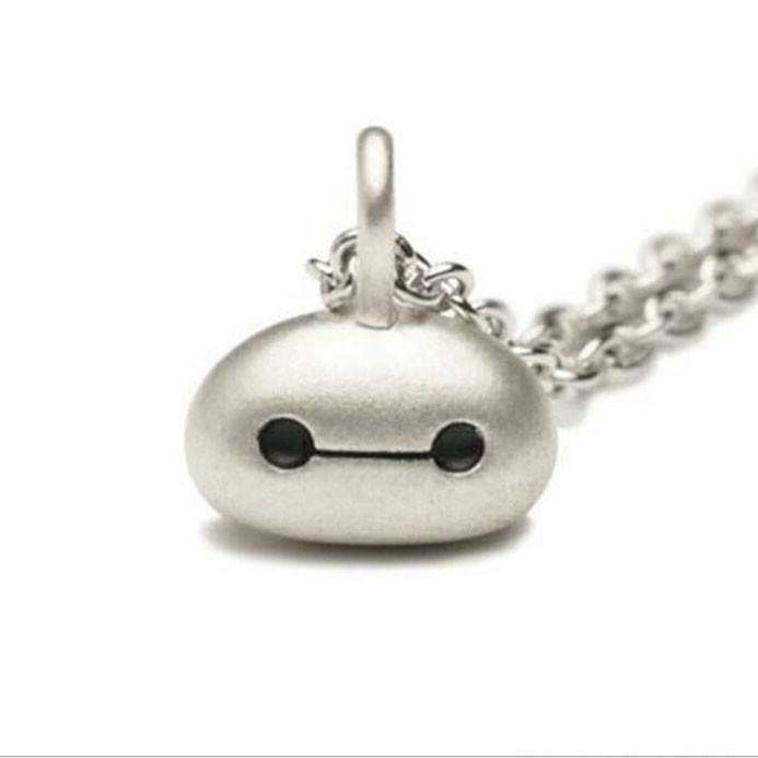 A necklace made with a pendant in the shape of Baymax in silver! Perfect for fans of the movie! Matching ring available in our store. Shop Online Now!
