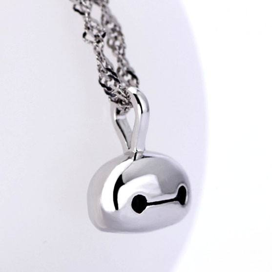 Big Hero 6 Baymax Face Pendant Necklace in Silver