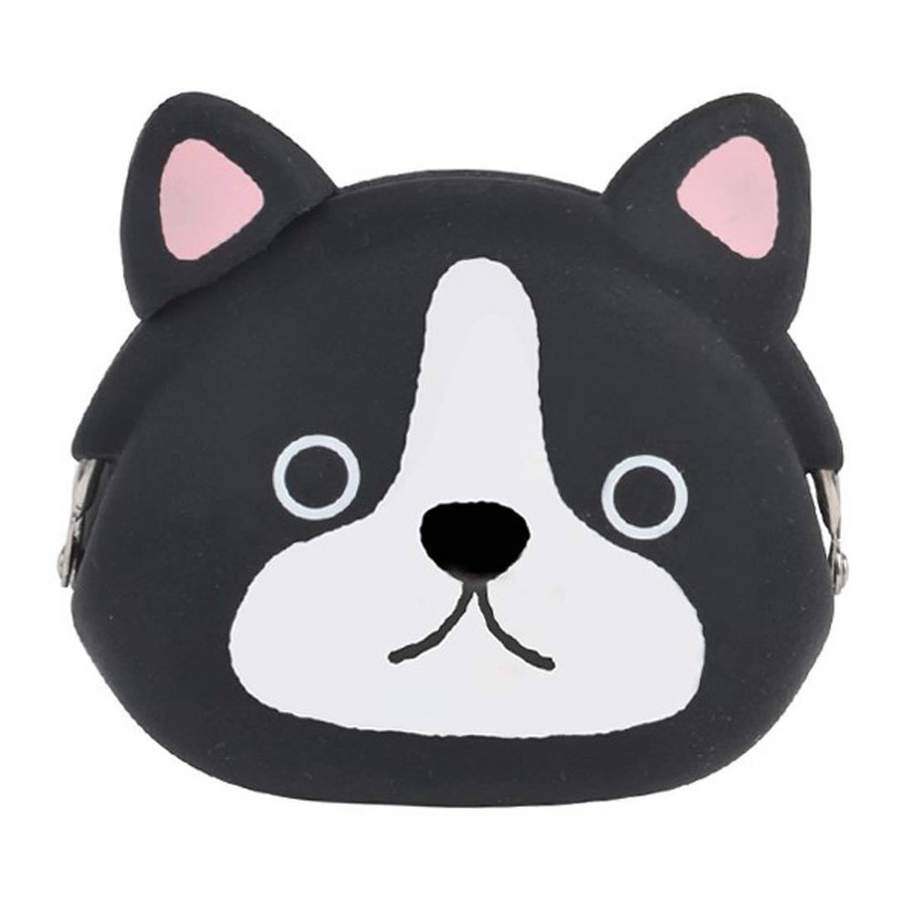 French Bulldog Puppy Dog Shaped Animal Silicone Clasp Coin Purse Pouch