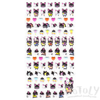 Small French Bulldog Shaped Dog Themed Puffy Stickers