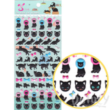 Black Cat Bow ties and Cone of Shame Shaped Puffy Stickers | DOTOLY