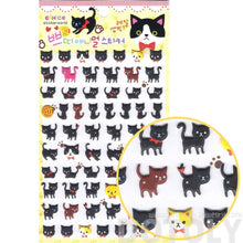 Black Kitty Cat Animal Shaped Puffy Decorative Sticker Seals for Kids