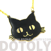 black-kitty-cat-shaped-animal-pendant-necklace-limited-edition
