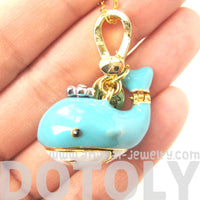 Blue Whale Shaped Sea Animal Pendant Necklace | Unique Animal Jewelry