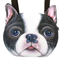 Boston Terrier Face Shaped Shopper Tote Shoulder Bag