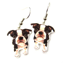 boston-terrier-puppy-dog-watercolor-animal-dangle-earrings-handmade-shrink-plastic