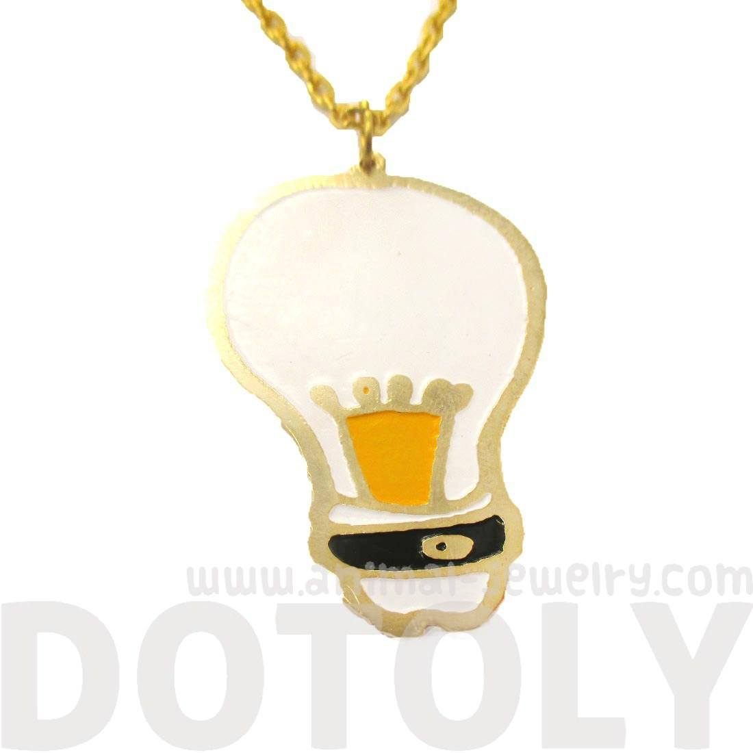 Bright Ideas Light Bulb Icon Shaped Pendant Necklace | Limited Edition