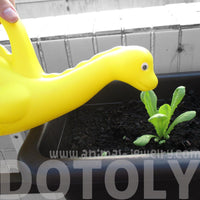 Brontosaurus Dinosaur Shaped Plastic Gardening Watering Can in Yellow