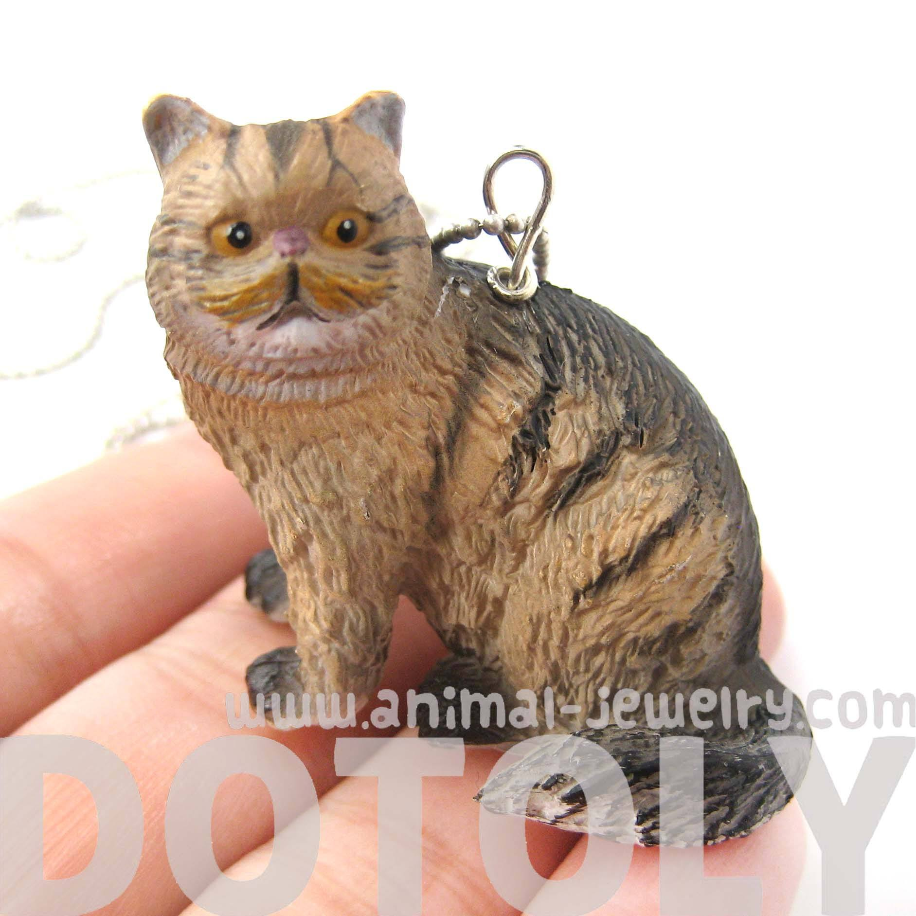 brown-and-black-tabby -kitty-cat-animal-plastic-pendant-necklace-animal-jewelry