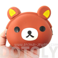 Rilakkuma Bear Shaped Animal Mimi Pochi Silicone Coin Purse Pouch
