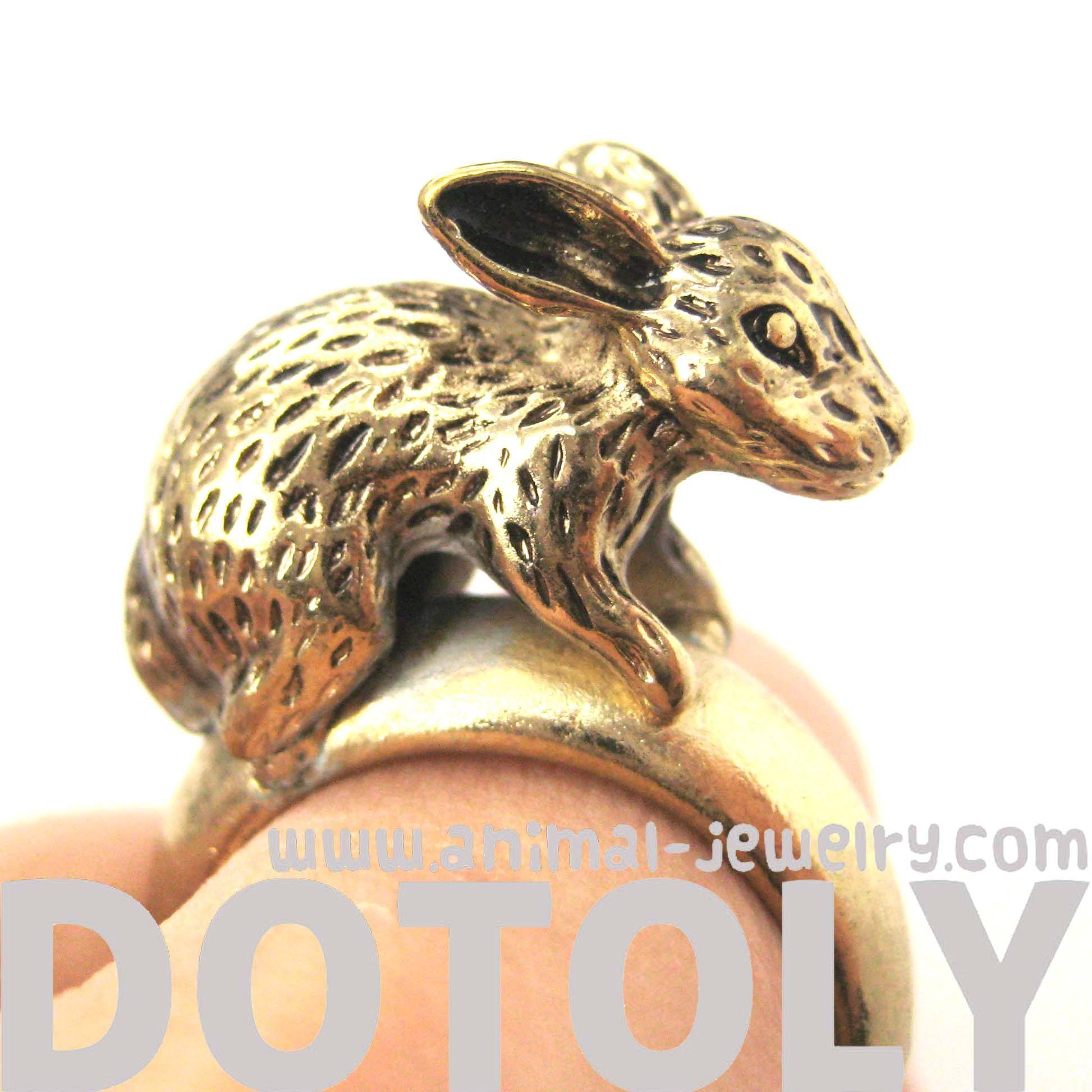 bunny-rabbit-3d-realistic-animal-ring-in-brass-size-6-dotoly