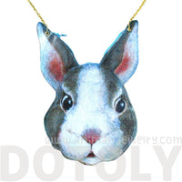 Bunny Rabbit Head Shaped Vinyl Animal Themed Cross Body Shoulder Bag