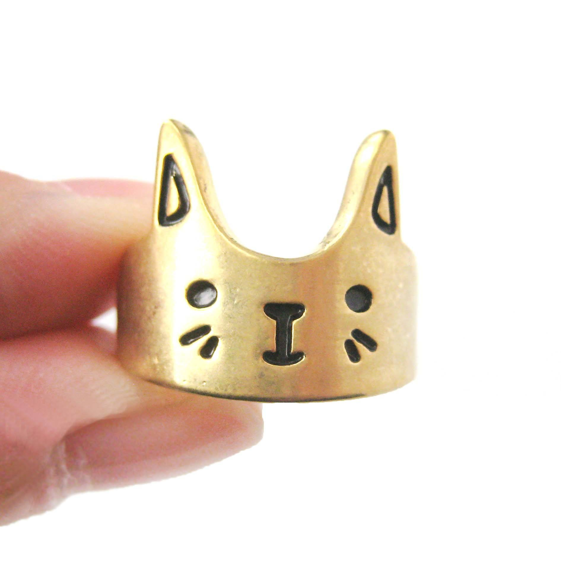Bunny Rabbit Shaped Cartoon Animal Ring in Gold | Animal Jewelry