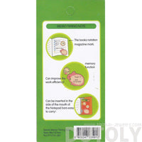 Bunny Rabbit and Clock Shaped To Do List Adhesive Post-it Memo Pad