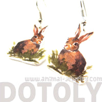 bunny-rabbit-watercolor-animal-dangle-earrings-handmade-shrink-plastic