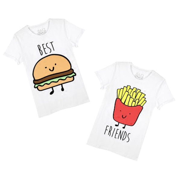Burger and Fries Best Friends T-Shirt Graphic Print Tees | DOTOLY