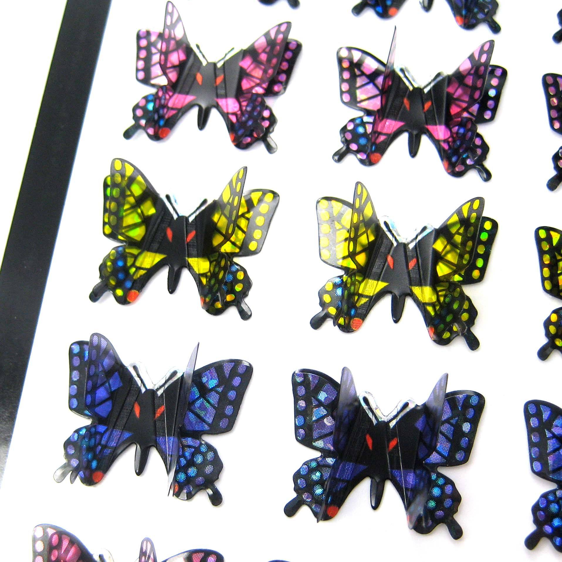 Butterfly Shaped 3D Pop-Up Stickers For Scrapbooking And