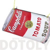 Campbell's Tomato Soup Warhol Icon Shaped Vinyl Cross Body Bag | DOTOLY | DOTOLY