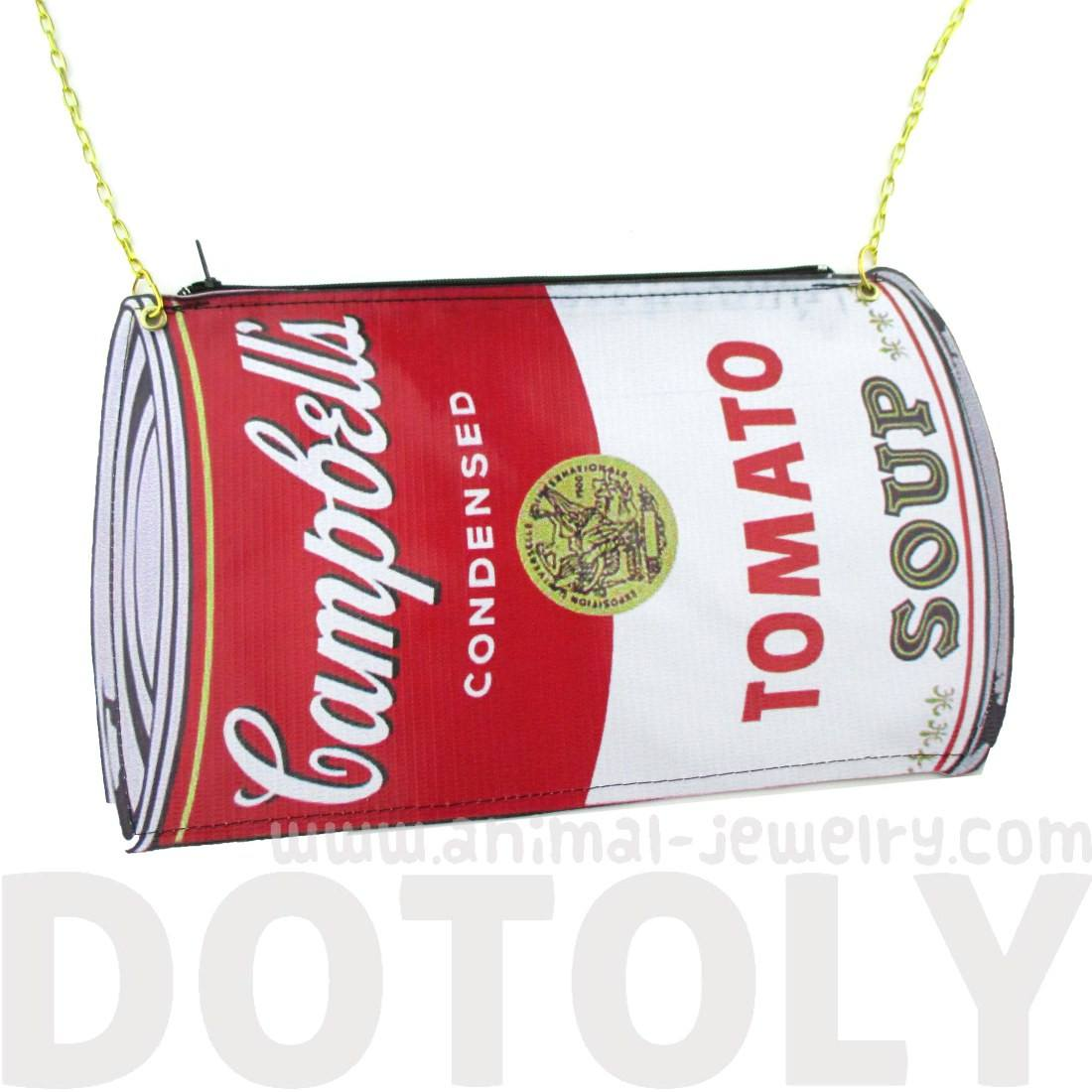 Warhol Campbell's Tomato Soup Shaped Vinyl xBody Bag