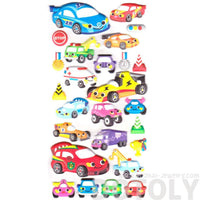 Cars Trucks Race Cars Trucks Shaped Spongy Stickers