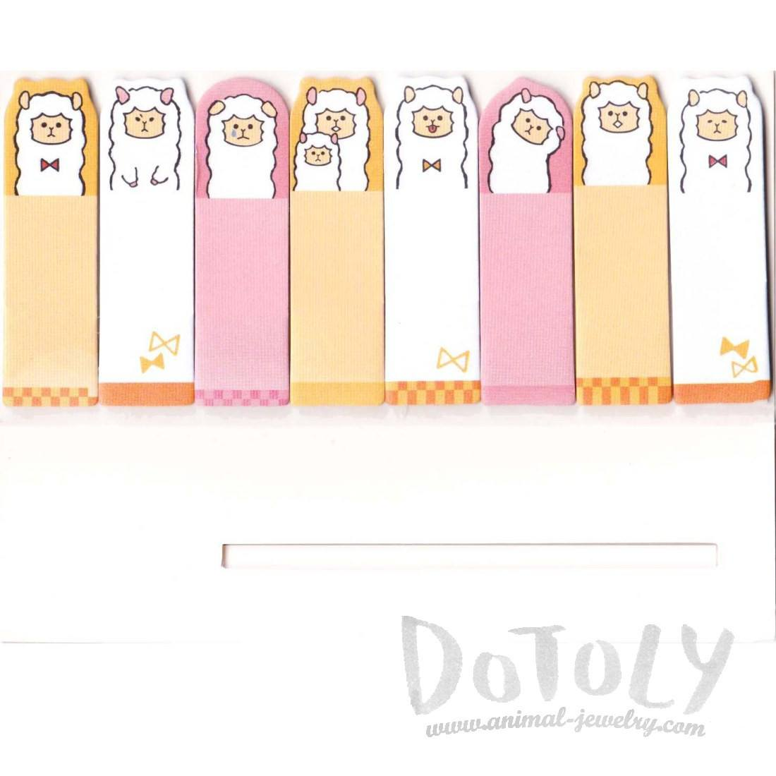 Cartoon Alpaca Sheep Animal Themed Memo Pad Post-it Sticky Notes