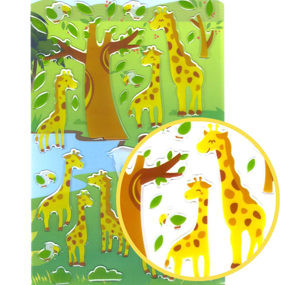 Giraffe Illustrated Animal Shape Jelly Puffy Stickers for Scrapbooking