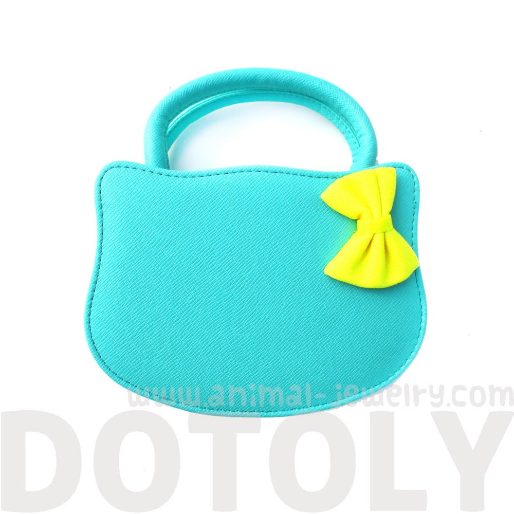 Cat Silhouette Shaped Hello Kitty Cross body Shoulder Bag for Women in Mint Blue | DOTOLY