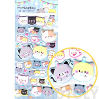 Kitty Cat Animal Themed Super Puffy Stickers from Japan
