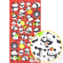 Chubby Panda Animal Themed Puffy Stickers for Scrapbooking From Japan