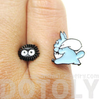 Chuu Totoro and Dustbunnies My Neighbor Totoro Ring